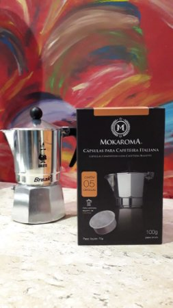 Cápsula Mokaroma para Cafeteira Moka/Italiana 3 xícaras