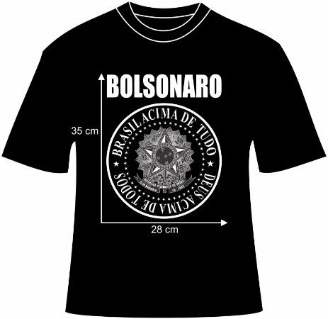 Camiseta Jair Bolsonaro Brasão