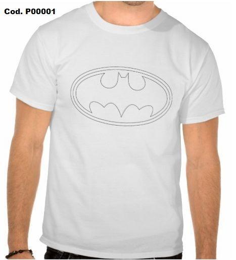 Camiseta Batman cor Branca