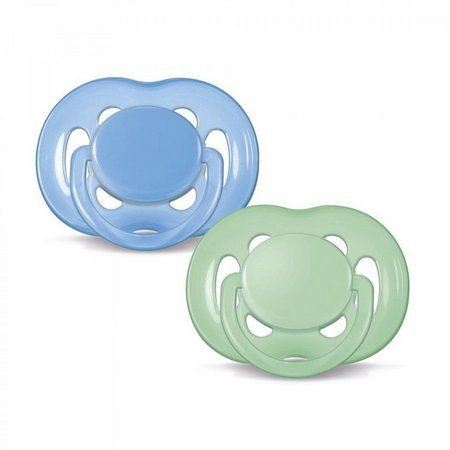 Kit 2 Chupetas Avent FreeFlow azul e verde de 6 - 18 meses