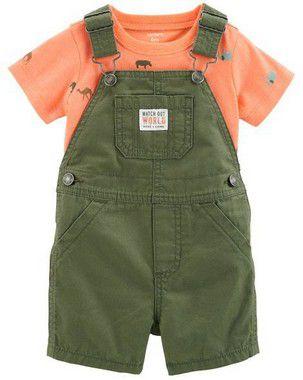 Jardineira Jeans + Camisetinha  Carter's (pronta entrega)
