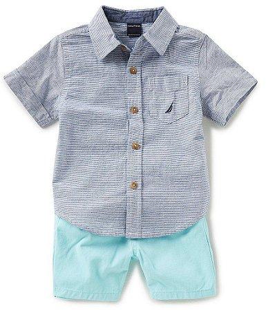 Conjunto Camisa + Shorts - Nautica (pronta entrega)