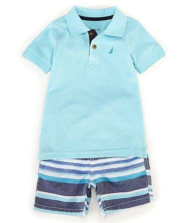 Conjunto Camiseta Polo + Shorts - Nautica  Carter's (pronta entrega)
