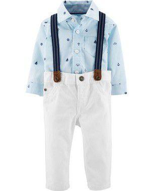 Conjunto Camisa Calça e Suspensório  Carter's (pronta entrega)