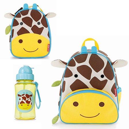 Kit  Girafa - Mochila + Lancheira + Garrafinha SKIP HOP