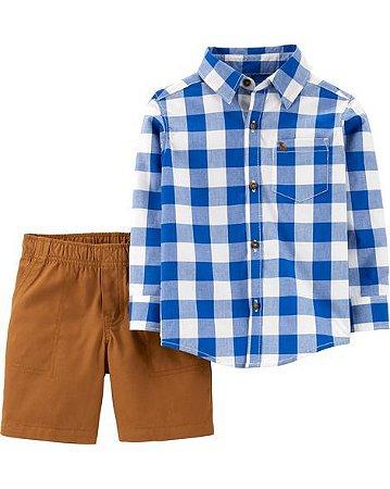 Conjunto Camisa + Shorts  Carter's (pronta entrega)