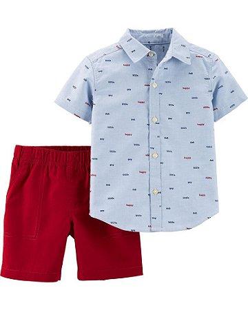 Conjunto de Verão Camisa + Shorts  Carter's (pronta entrega)