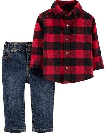 Conjunto Camisa + Calça Jeans  Carter's (pronta entrega)