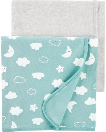 Kit 2 Mantinhas Swaddle Carter's (pronta entrega)