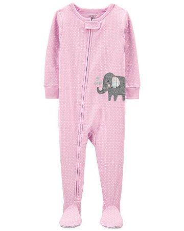 Macacão Pijama Elefante Rosa Carter's (pronta entrega)