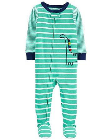 Macacão Pijama Dino Verde Carter's (pronta entrega)