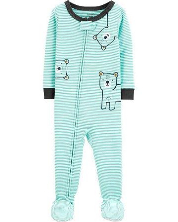 Macacão Pijama Urso Verde Carter's (pronta entrega)