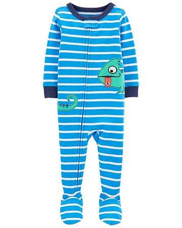 Macacão Pijama Algodão Carter's Azul