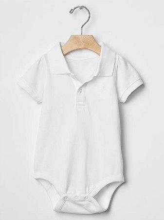 9acf1a461 Roupas de Bebe GAP Body Polo Branco - Dany Store - Roupas de Bebe