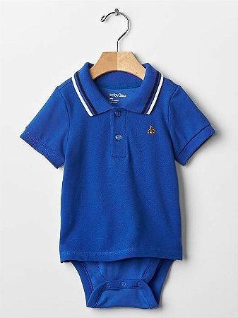 7b9f77a5b Roupas de Bebe GAP Body Camiseta Polo Azul - Dany Store - Roupas de Bebe