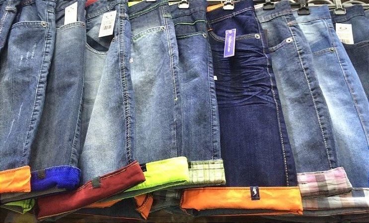 Bermudas jeans Oakley MCd Volcon Hurley Zoomp Forum Calvin Klein Multimarcas kit com 10 pçs 7% desconto a vista