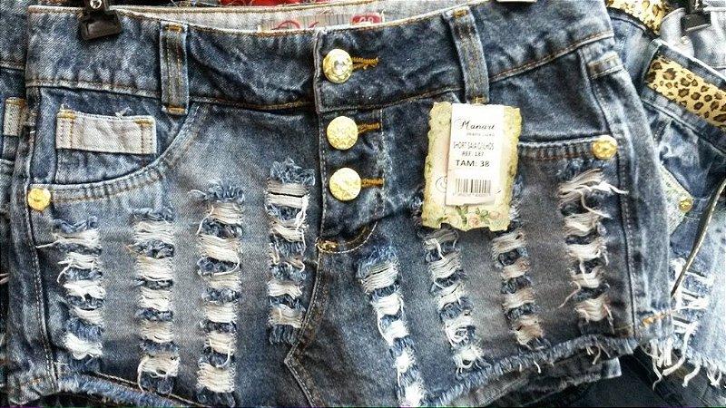 Shorts e short-saias jeans femininos multimarcas kit 10 pçs