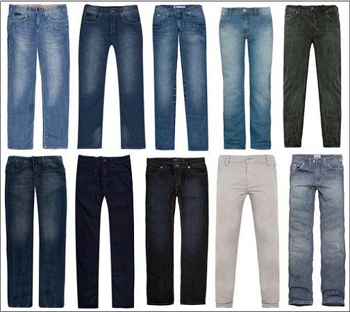 Calca jeans Calvin Klein Armani Ellus Oakley Hurley Morena Rosa Multimarcas kit 10 peças 7% desconto a vista