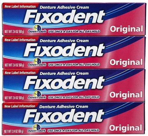 Fixodent kit com 10 unidades com 68 gramas cada - deposito bancário tem 7% de desconto adesivo de dentadura