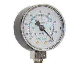 Manômetro para Vacuômetro 0 a 76cm Hg Protec