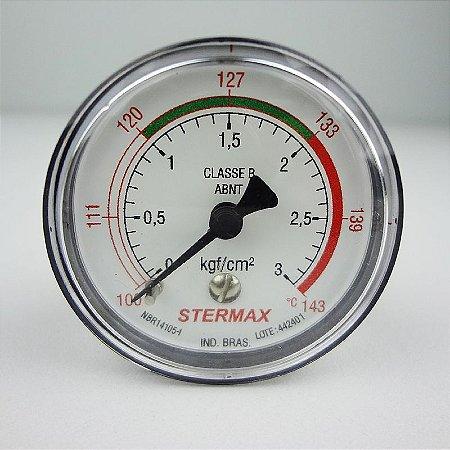 Manômetro para Autoclave Stermax 0 a 3 kgf/cm²
