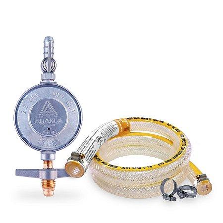 Kit de Instalação de Gás para Fogão Peq Simples 1,00 Metro