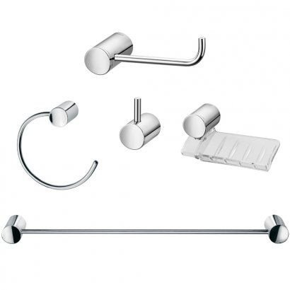 Kit Acessorios Banheiro Single 5 Peças Docol