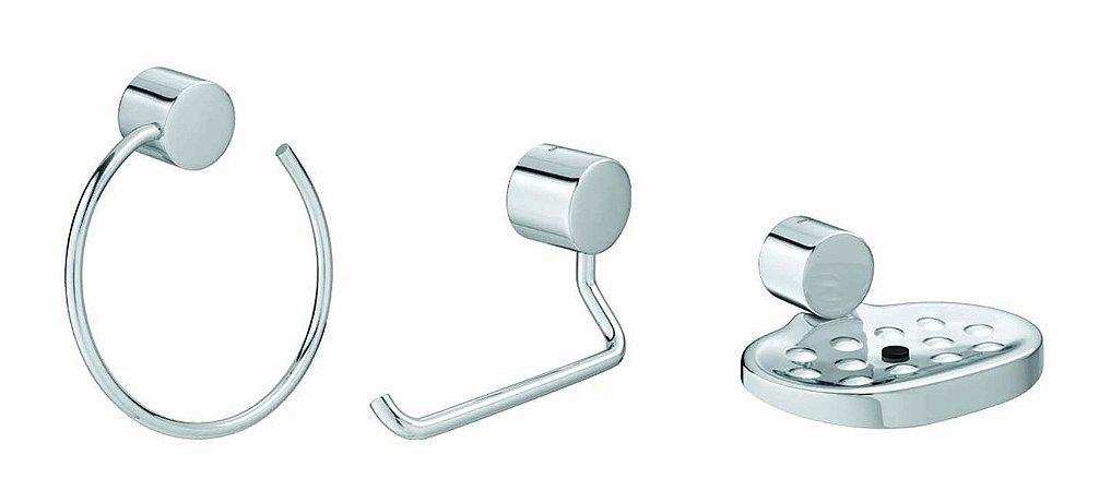 Kit Acessórios Banheiro 3 Peças Flex Cr 2001 C Flx Deca