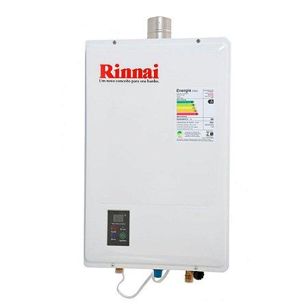 Aquecedor de Agua a Gás REU 1302 GLP 18 Litros Bivolt Rinnai