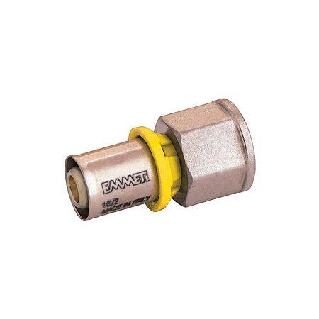 Conector Fêmea 26 mm x 3/4 Sistema Multicamadas Gás Emmeti