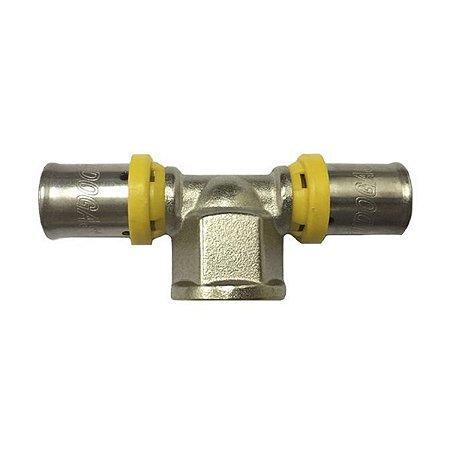 Tê 16 x 1/2 x 16 mm para Tubo Pex Multicamadas 16mm Tudogás