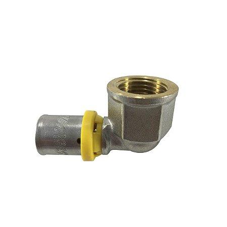 Cotovelo 16 mm X 1/2 Fêmea para Tubo Pex Gás de 16mm Tudogás