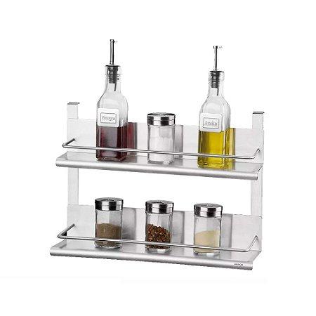 Suporte Duplo para Condimentos Spazio 35 x 10 x 25 cm Brinox