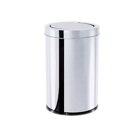 Lixeira Inox Tampa Basculante 40,5 Litros Decorline Brinox