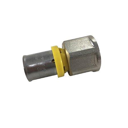 Conector Fêmea 20mm x 1/2 para Tubo Pex Gás 20mm Tudogás