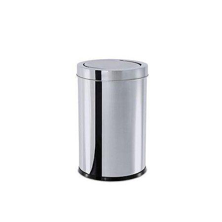 Lixeira Inox Com Tampa Basculante 7,8 Litros  Brinox