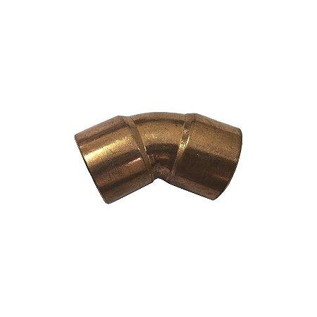 Cotovelo 45° cobre 28mm Eluma