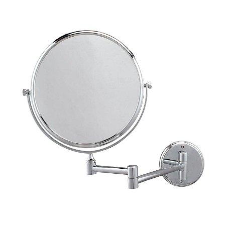 Espelho de Parede Dupla Face 20cm com aumento 3x Jackwal
