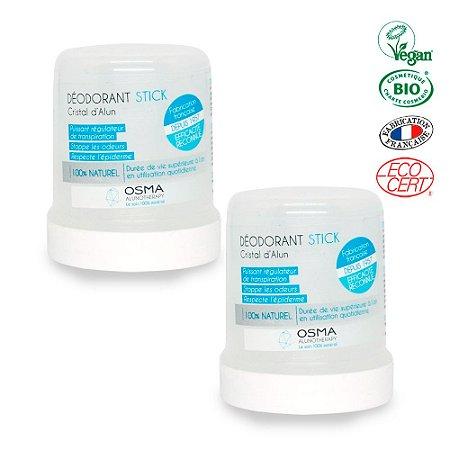 Desodorante Cristal 100% Natural Mineral 100g - Kit Casal