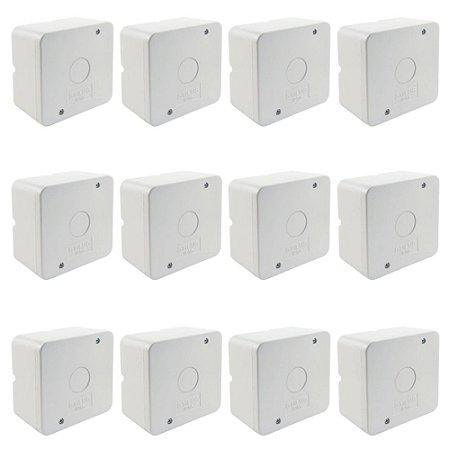 Kit 12 Caixa de Proteção Organizadora para CFTV IP55