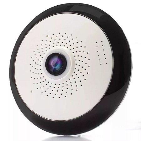 Camera Ip Hd Wifi Panoramica 360 Olho Peixe 1.3mp Onvif P2P