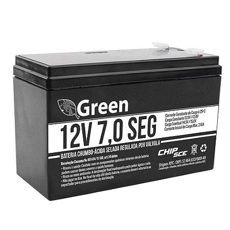 Bateria Selada 12v 7a Recarregavel Vrla Chumbo Ácido Para Nobreak, Alarme e Cerca Elétrica
