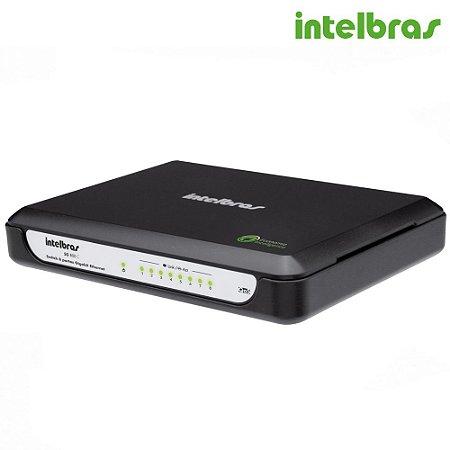 Switch 8 Portas Intelbras Gigabit Ethernet Qos 10/100/1000 Mbps SG 800 C