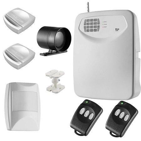 Kit Alarme Residencial e Comercial Sem Fio Com Discadora