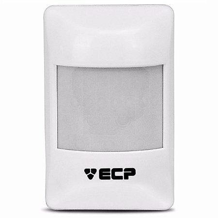 Sensor Infravermelho Passivo Ivp Visory Ecp Com Fio Com Suporte Articulador