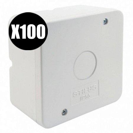 Kit 100 Caixa de Proteção Organizadora para CFTV IP55