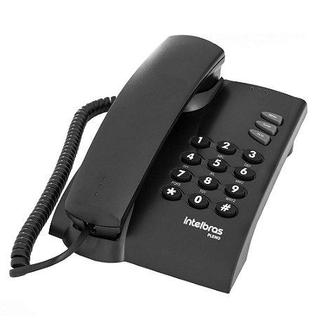 Telefone Com Fio Intelbras Pleno Preto sem Chave