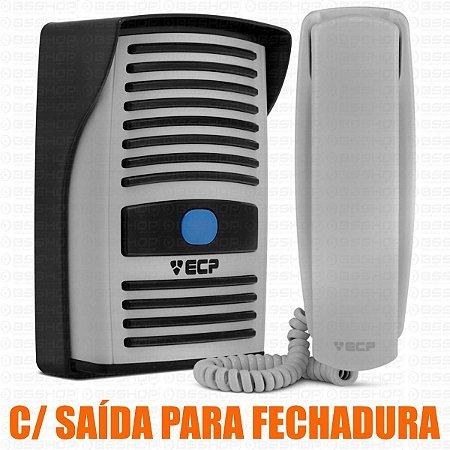 Kit Interfone Residencial Porteiro Eletronico Bivolt com Monofone Branco Intervox Ecp