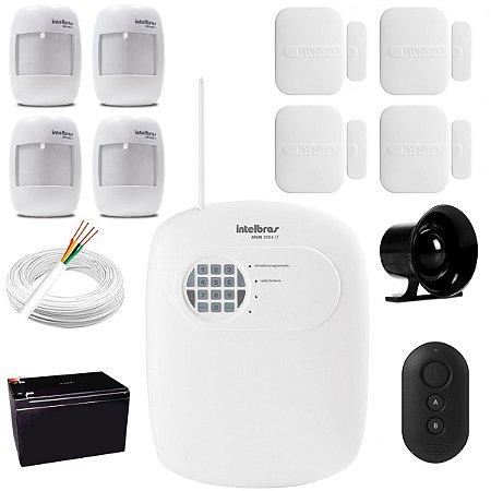 Kit Alarme Residencial Comercial Casa Intelbras Anm 3004 St 4 Zonas e Discadora