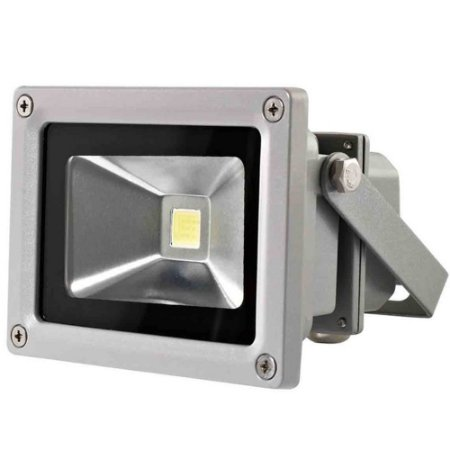 Refletor Holofote 10w Super Led Ip65 Bivolt 6000k Branco Frio Externo